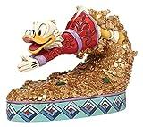 Disney Traditions 4046055 Scrooge McDuck Figurine Schatz Tauchen 12,5 cm