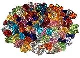 100 Stück 15mm glitzernde bunte Deko Eis Diamanten Brillianten Strasssteine Acrylsteine basteln Dekosteine Gltzersteine Strass Steine zum Verzieren Dekorieren von CRYSTAL KING