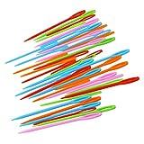 ROSENICE 40 stücke Kunststoff Nähnadeln für Kinder Nähen Handwerk und Nadel Projekte 7 cm und 9 cm (Mischfarbe)