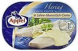 Appel Heringsfilets, zarte Fisch-Filets in Sahne-Meerrettich-Creme, MSC zertifiziert, 10er Pack (10 x 200 g)