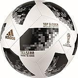 adidas Herren Fifa World Cup Top Glider Ball, White/Black/Silver Metallic, 5