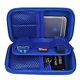 Estarer Festplattentasche Schutztasche Hülle für externe Festplatten Tasche für USB-Sticks und Speicherkarten -Blau