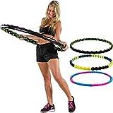 MOVIT Hip Hoop Hula Hoop Reifen, Massagenoppen und Magnete, 3 Varianten: 0,9 / 1,3 / 1,7 kg, 3 Jahre Garantie