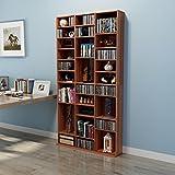 Dakea Panana Bücherregal Wandregal CD Regal Holz Regal mit verstellbar Fach 196 x 102 x 24cm Braun