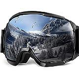 Skibrille, EletecPro Skibrillen Herren Damen Jugendliche Abnehmbarer Linse Helmkompatible Ski-Schutzbrillen Wintersportarten Schneebrille Brillenträger Anti-Beschlag UV-Schutz Winddicht Kratzfest