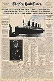 Titanic - Newspaper Zeitung New York Times Film Poster Plakat Druck - Grösse 61x91,5 cm + 1 Ü-Poster der Grösse 61x91,5cm