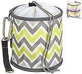 ZWICKER Design Wäscheklammerbeutel zum Aufhängen - Klammerbeutel für 150 Wäscheklammern I Outdoor Wäschespinne Wäscheleine I 4,1l