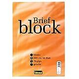 Idena Briefblock A4 50Bl. 70G/Qm,Gelocht,Blanco