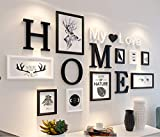 MUZIDP Massivholz Fotowand,Kreativ Foto-Rahmen-Wand Bild Rahmen Collage Für Wohnzimmer Restaurant Hintergrundwand-B