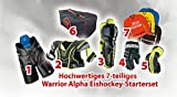 Warrior Alpha Eishockey Starterset Junior zum Monsterpreis, Größe:Junior S