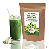 Bio Spirulina Pulver, veganes Pflanzenprotein Superfood, reich an Chlorophyll, Vitaminen, Mineralstoffen und vollständiger Aminosäure für verbesserten Gesundheitsnutzen (500g)