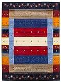 CarpetFine: Gabbeh Don Teppich 80x150 cm Multicolor - Abstrakt