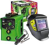 GYS Elektroden-Schweißgerät 160 A, mit LCD-Schweißhelm, grün, Inverter 4000 und LCD Master 11