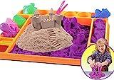 Kinetischer Sand 1,5KG mit Förmchen und Unterlage