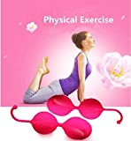 BIBU Silicone Kegel Exercise Weights Kit Climax Ben Wa Balls for Beginner Advanced Weighted Muscle Exercise Pelvic Floor Strength Bladder Control Post Pregnancy Childbirth Recovery Gift (Pink)