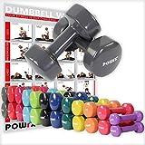 Vinyl Hanteln Paar Ideal für Gymnastik Aerobic Pilates 0,5 kg – 10 kg | Kurzhantel Set in versch. Farben (2 x 10 kg)