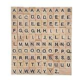 Hölzerne Scrabble Fliesen Voller Satz von 100 Alphabet Scrabble Fliesen Schwarz Buchstaben & Zahlen Für Handwerk Brettspiele Schmuck Making Kit