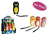 Unbekannt Taschenlampe LED Dynamo Tiere 4er Set - lustige Taschenlampe für Kinder, Kindergeschenk