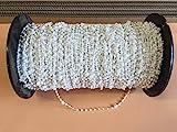 cg-sonnenschutz 100 Stück Clips mit Kette / Abstandskette / Verbindungskette für 127 mm Vertikaljalousie - Lamellen Vorhang Vorhang-Lamellen weiß aus Kunststoff
