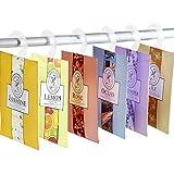 YUMSUM Fresh Kleidung Duftende Duftsäckchen 6 Pack Set mit Aufhänger geeignet für Schubladen Wandschränke Zimmer Kleiderschrank Badezimmer Cars, 16g (6er-Pack)