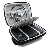 """Stoßsichere schwarze Schutzhülle / Hardcase/Tasche / Festplattentasche für 2,5"""" WD Western Digital Elements External My Passport Essential HDD tragbare, externe Festplatte"""