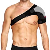 MAIBU Verstellbare Schulterstütze Lightweight Gym Sport-Therapie Neopren Schulterstütze Strap Wrap für Männer und Frauen (Links)