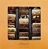 chocri 'Weltreise' - 24 Schokoladen-Täfelchen in einer Geschenkbox - handbestreut mit Zutaten aus verschiedenen Regionen der Welt - Fairtrade-Kakao - perfektes Geschenk für Frauen und Männer, für die Mama und für die Eltern, zur Hochzeit oder zum Geburtstag - 165g