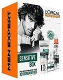 L'Oreal Men Expert Hydra Sensitive Set, für empfindliche Haut, Hydra Sensitive Birkensaft Duschgel (300 ml) und Sensitive Control Deo Spray (150 ml)