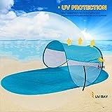 Strand-Sonnenschutz-Sonnenschutz-Faltbare Zelt-Markisen-Überdachung TRAGBARE Strand-Matte für den Sommerstrand, der das Kampieren wandert