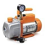 BACOENG 4.2CFM Zweistufige Vakuumpumpe Unterdruckpumpe mit Manometer HVAC