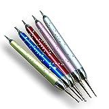 GS-Nails 5 x Doppel Spot Swirl Dotting Tool Marmorierwerkzeug Glitter