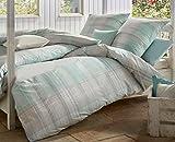 Estella Mako-Interlock-Jersey Bettwäsche 6290-560 türkis 1 Bettbezug 135 x 200 cm + 1 Kissenbezug 80 x 80 cm