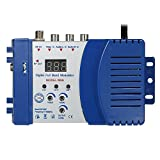 KKmoon Kompakter HF Modulator Audio Video TV Konverter RHF UHF Signalverstärker AC230V