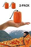 Notfall-Zelt, Survival Schlafsack, Notfall Outdoor Tube Zelt mit ultraleicht hitzeabweisend Kälteschutz 2 Stück