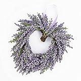Deko Lavendelherz, violett, Ø 20 cm - Künstlicher Kranz / Türkranz - artplants