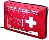 CAR SAFETY Motorrad-Verbandtasche ÖNORM V 5100 Rot