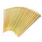 LIHAO Stricknadeln Bambus Set 18 Größe (36 Stk.) 2.0-10.0mm Handarbeit Knitting Needles Crochet Hooks