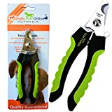 Profi-Klauenschere, hochwertiger, mit Schutz, für mittlere bis große Hunde, ergonomischer Griff