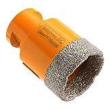 Fliesenbohrer Diamantbohrer Diamantbohrkronen M14 Flex Winkelschleifer Trockenbohrer für Granit Naturstein Marmor Bodenfliesen Feinsteinzeug (Ø 45mm)