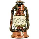 Original DIETZ Sturmlaternen-SET große WIZARD Petroleumlampe, altdeutsche Kupferlackierung, Höhe 29,2 cm, mit 1 Liter Petroleum und Docht