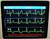 Mobile professionelle EKG Geräte-3-12 Kanal-Deutsche Ausführungen-Vorhofflimmern Neuestes Modell: Portables Hand EKG Gerät für Langzeit Messung 24 STD. OD. 30 SEK.-1 bis 3 Kanal Darstellung