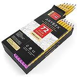 ARTEZA Bleistifte - # 2 HB Mine Vorgespitzt - Holz-Bleistifte mit Latexfreien Radiergummis - 72er Box