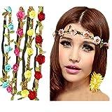 HABI 8 stk mehrfarbig Blume Bohemia Style Kopfschmuck Haarbänder