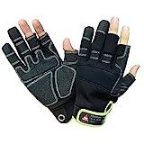 Hase Technik 3 Finger Montage Handschuh Outdoor Mechaniker Techniker Handschuhe Arbeitshandschuhe Größe 10