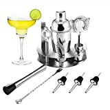 Cocktailshaker Set von OCDAY - Premium Edelstahl Bar Cocktailset: 12-teiliges Cocktail-Set mit praktischer Handhabung, Professioneller Cocktail Shaker / Martinishaker / Mixer mit Sieb, Messbecher, Barlöffel, Gabel + Barstößel