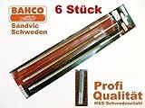 BAHCO SANDVIC Profi Kettensägefeilen 6' x 150 mm x 3.2  HSS Rundfeile f. Kettensäge NEU OVP(3 Stücke)