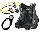 Cressi Travel Int Scuba Set, Schwarz, L