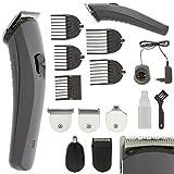 Akku Titan Herren / Damen Haarschneider Haarschneidemaschine Set + Aufsätze + Rasierer + Nasenhaar Trimmer Haar Schneide Maschine Cutter