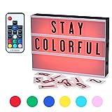 Leuchtkasten,CrazyFire A4 LED Lichtbox, Farbwechsel Lichtkasten, Leuchte Box, inkl.104 Buchstaben Symbolen mit Fernbedienung,USB Netzteil