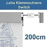 Leha Klemmschiene, Wandklemmschiene, Klemmleiste Switch silber 200cm Aluminium